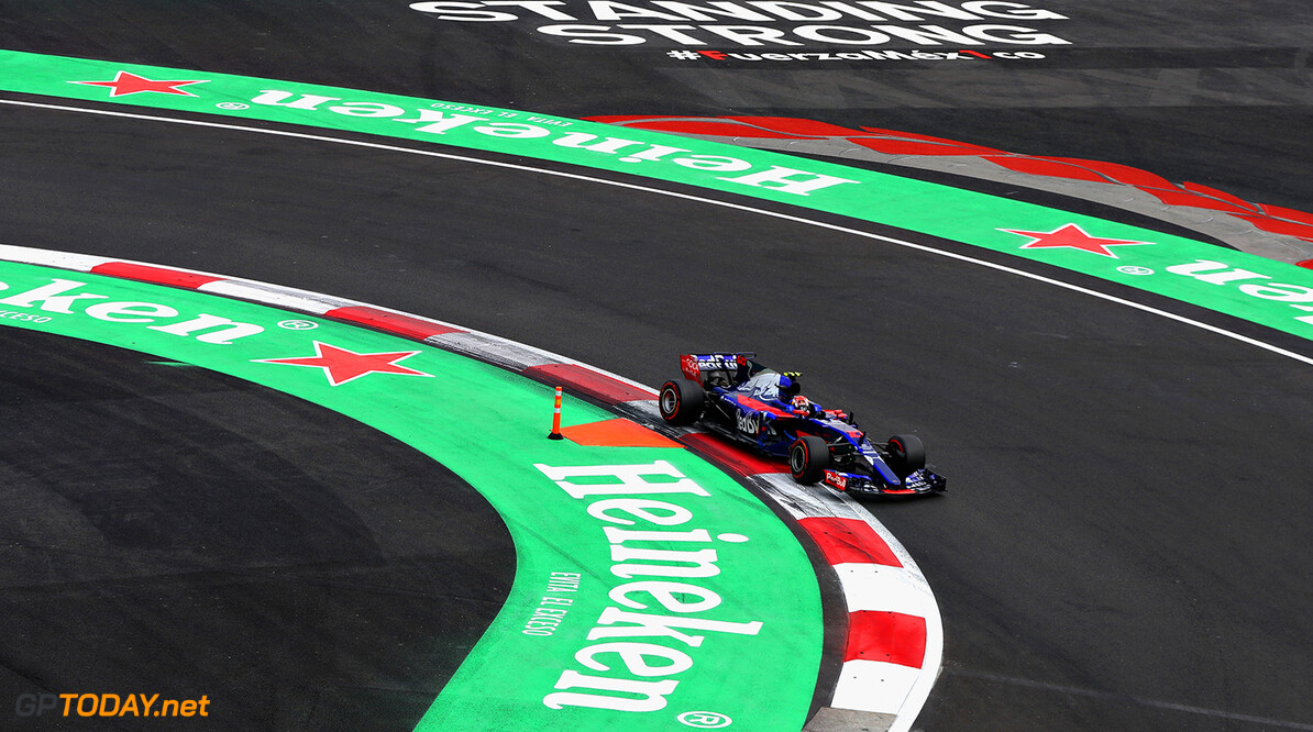 MEXICO CITY, MEXICO - OCTOBER 29: Pierre Gasly of France and Scuderia Toro Rosso drives in the (10) Scuderia Toro Rosso STR12 on track during the Formula One Grand Prix of Mexico at Autodromo Hermanos Rodriguez on October 29, 2017 in Mexico City, Mexico.  (Photo by Mark Thompson/Getty Images) // Getty Images / Red Bull Content Pool  // P-20171029-01162 // Usage for editorial use only // Please go to www.redbullcontentpool.com for further information. //  F1 Grand Prix of Mexico Mark Thompson Mexico City Mexico  P-20171029-01162