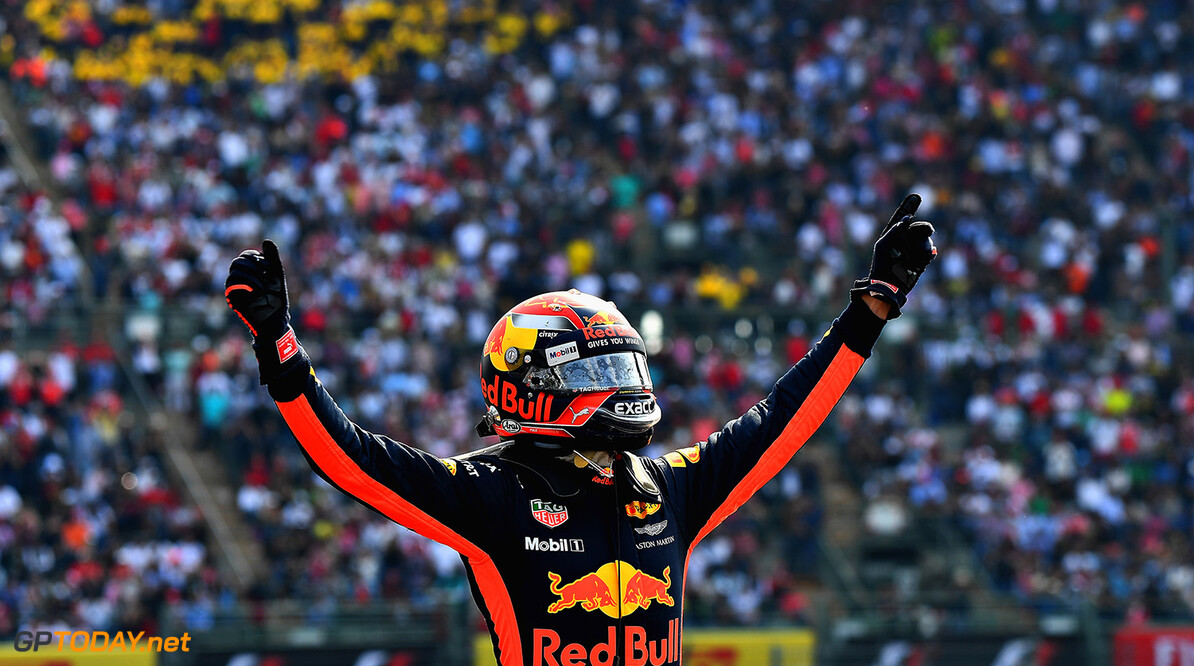 MEXICO CITY, MEXICO - OCTOBER 29: Race winner Max Verstappen of Netherlands and Red Bull Racing celebrates in parc ferme during the Formula One Grand Prix of Mexico at Autodromo Hermanos Rodriguez on October 29, 2017 in Mexico City, Mexico.  (Photo by Getty Images/Getty Images) // Getty Images / Red Bull Content Pool  // P-20171030-00091 // Usage for editorial use only // Please go to www.redbullcontentpool.com for further information. //  F1 Grand Prix of Mexico Getty Images Mexico City Mexico  P-20171030-00091