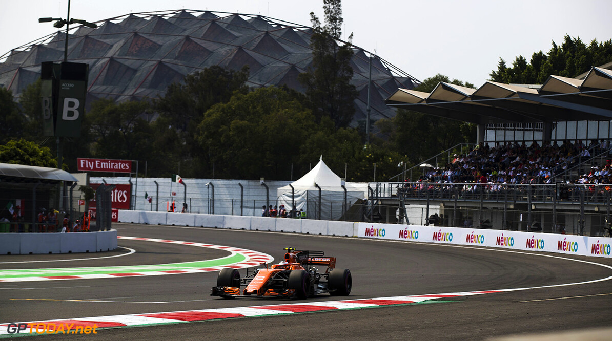 Autodromo Hermanos Rodriguez, Mexico City, Mexico. Sunday 29 October 2017. Stoffel Vandoorne, McLaren MCL32 Honda. Photo: Sam Bloxham/McLaren ref: Digital Image _J6I0231      f1 formula 1 formula one gp grand prix Action