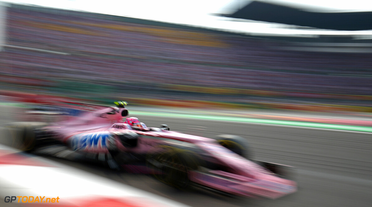 Formula One World Championship Esteban Ocon (FRA) Sahara Force India F1 VJM10. Mexican Grand Prix, Sunday 29th October 2017. Mexico City, Mexico. Motor Racing - Formula One World Championship - Mexican Grand Prix - Race Day - Mexico City, Mexico James Moy Photography Mexico City Mexico  Formula One Formula 1 F1 GP Grand Prix Circuit Mexico Mexican Mexico City Autodromo Hermanos JM781 Action Track GP1718d GP1718d_M