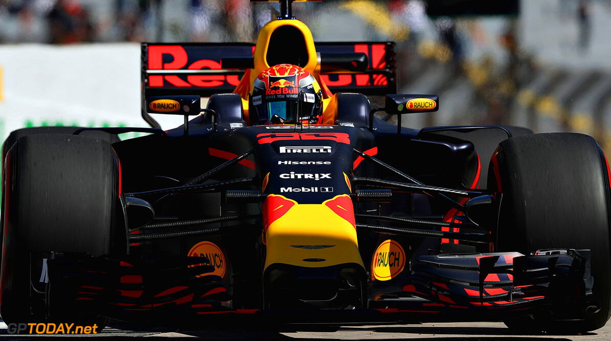 SAO PAULO, BRAZIL - NOVEMBER 10: Max Verstappen of the Netherlands driving the (33) Red Bull Racing Red Bull-TAG Heuer RB13 TAG Heuer in the Pitlane during practice for the Formula One Grand Prix of Brazil at Autodromo Jose Carlos Pace on November 10, 2017 in Sao Paulo, Brazil.  (Photo by Mark Thompson/Getty Images) // Getty Images / Red Bull Content Pool  // P-20171110-00830 // Usage for editorial use only // Please go to www.redbullcontentpool.com for further information. //  F1 Grand Prix of Brazil - Practice Mark Thompson Sao Paulo Brazil  P-20171110-00830