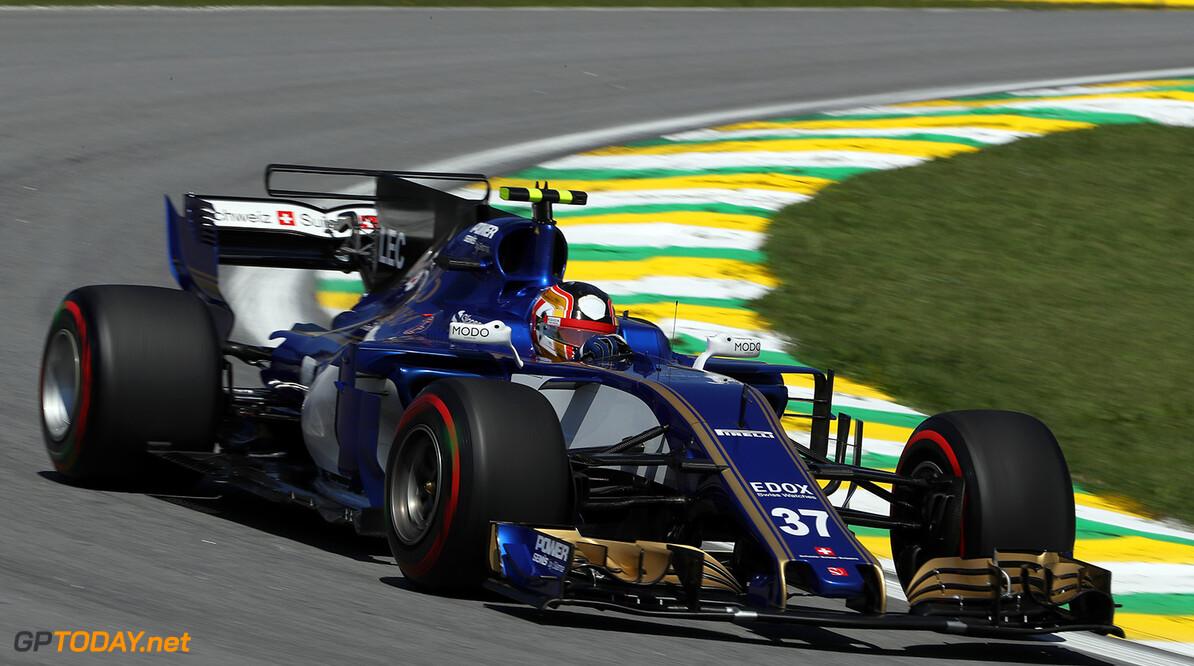 Brazilian GP Friday 10/11/17 Charles Leclerc (MON) Sauber F1 Team.   Autodromo Jose Carlos Pace.  Brazilian GP Friday 10/11/17 Jad Sherif Interlagos, Sao Paulo Brazil  F1 Formula 1 One 2017 Action Leclerc Sauber