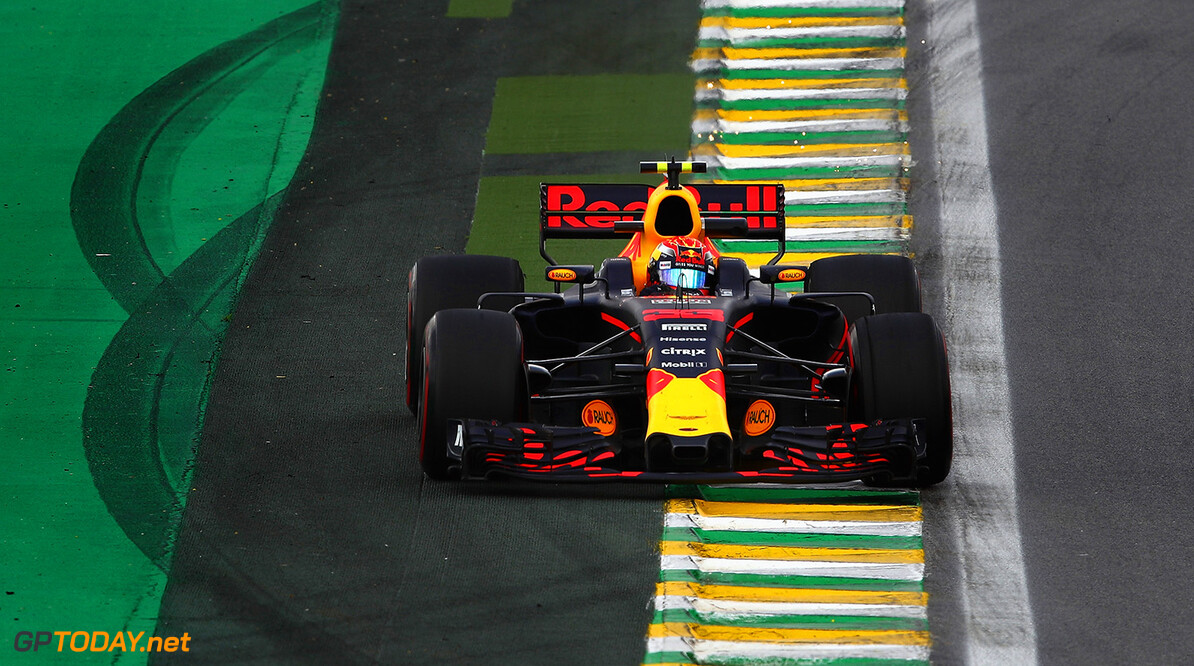 SAO PAULO, BRAZIL - NOVEMBER 10: Max Verstappen of the Netherlands driving the (33) Red Bull Racing Red Bull-TAG Heuer RB13 TAG Heuer on track during practice for the Formula One Grand Prix of Brazil at Autodromo Jose Carlos Pace on November 10, 2017 in Sao Paulo, Brazil.  (Photo by Clive Mason/Getty Images) // Getty Images / Red Bull Content Pool  // P-20171110-01762 // Usage for editorial use only // Please go to www.redbullcontentpool.com for further information. //  F1 Grand Prix of Brazil - Practice Clive Mason Sao Paulo Brazil  P-20171110-01762