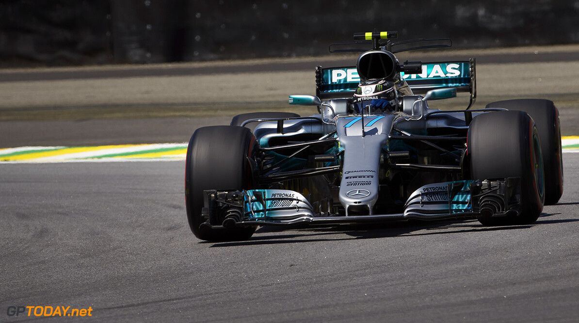 Bottas on pole in Brazil, Hamilton crashes out