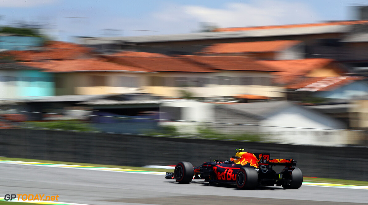 SAO PAULO, BRAZIL - NOVEMBER 10: Max Verstappen of the Netherlands driving the (33) Red Bull Racing Red Bull-TAG Heuer RB13 TAG Heuer on track during practice for the Formula One Grand Prix of Brazil at Autodromo Jose Carlos Pace on November 10, 2017 in Sao Paulo, Brazil.  (Photo by Clive Mason/Getty Images) // Getty Images / Red Bull Content Pool  // P-20171110-01370 // Usage for editorial use only // Please go to www.redbullcontentpool.com for further information. //  F1 Grand Prix of Brazil - Practice Clive Mason Sao Paulo Brazil  P-20171110-01370
