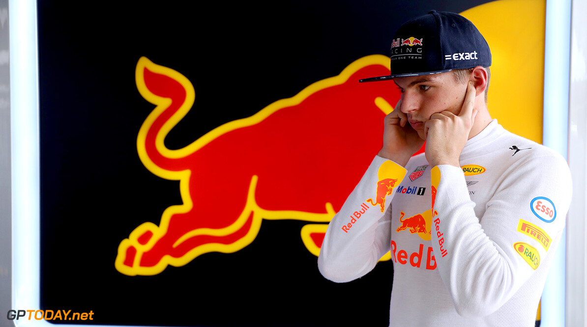 SAO PAULO, BRAZIL - NOVEMBER 10:  Max Verstappen of Netherlands and Red Bull Racing looks on in the garage during practice for the Formula One Grand Prix of Brazil at Autodromo Jose Carlos Pace on November 10, 2017 in Sao Paulo, Brazil.  (Photo by Mark Thompson/Getty Images) // Getty Images / Red Bull Content Pool  // P-20171110-02082 // Usage for editorial use only // Please go to www.redbullcontentpool.com for further information. //  F1 Grand Prix of Brazil - Practice Mark Thompson Sao Paulo Brazil  P-20171110-02082