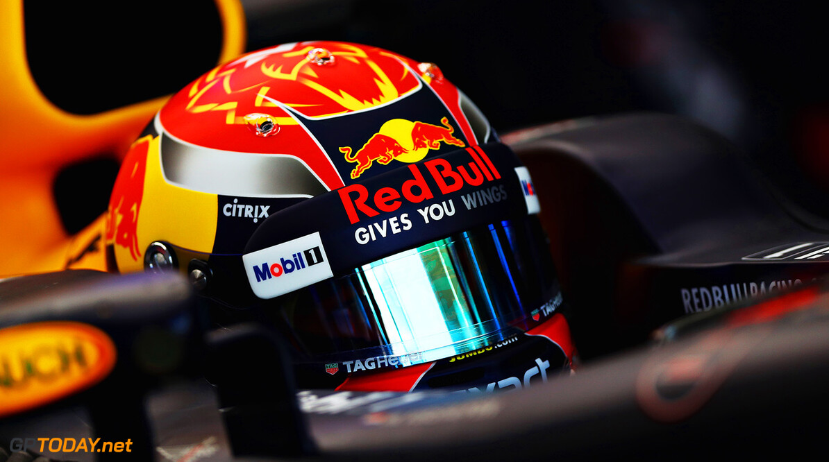SAO PAULO, BRAZIL - NOVEMBER 10:  Max Verstappen of Netherlands and Red Bull Racing prepares to drive in the garage during practice for the Formula One Grand Prix of Brazil at Autodromo Jose Carlos Pace on November 10, 2017 in Sao Paulo, Brazil.  (Photo by Dan Istitene/Getty Images) // Getty Images / Red Bull Content Pool  // P-20171110-00967 // Usage for editorial use only // Please go to www.redbullcontentpool.com for further information. //  F1 Grand Prix of Brazil - Practice Dan Istitene Sao Paulo Brazil  P-20171110-00967