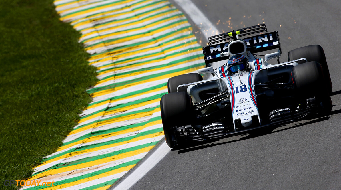 Interlagos, Sao Paulo, Brazil. Friday 10 November 2017. Lance Stroll, Williams FW40 Mercedes. Photo: Charles Coates/Williams ref: Digital Image DJ5R3746      f1 formula 1 formula one gp Action