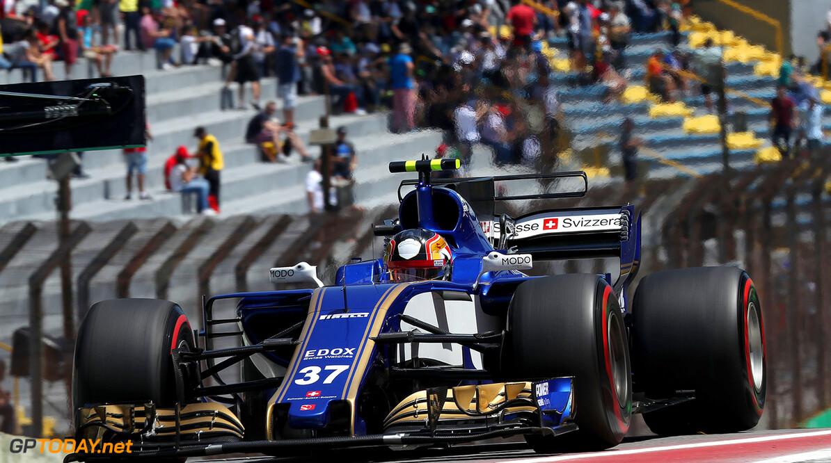 Brazilian GP Friday 10/11/17  Charles Leclerc (MON) Sauber F1 Team. Autodromo Jose Carlos Pace.  Brazilian GP Friday 10/11/17 Jean-Francois Galeron Interlagos Brazil  F1 Formula One 2017 Pits Leclerc Sauber