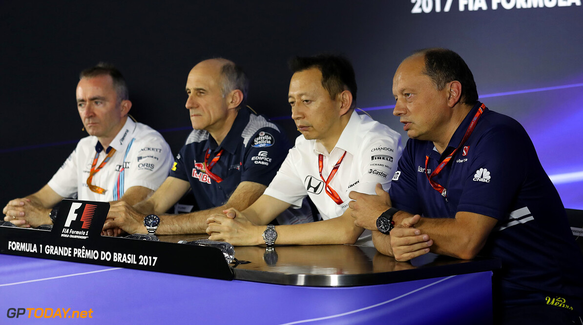 Brazilian GP Friday 10/11/17 Frederic Vasseur (FRA) Managing Director & CEO of Sauber Motorsport AG, Team Principal of the Sauber F1 Team. Press conference. Autodromo Jose Carlos Pace.  Brazilian GP Friday 10/11/17 Jean-Francois Galeron Interlagos Brazil  F1 Formula One 2017 Fr?d?ric Vasseur Sauber