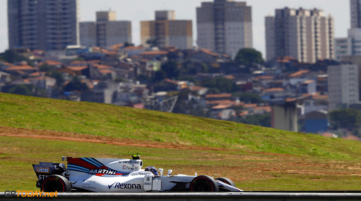Interlagos, Sao Paulo, Brazil. Friday 10 November 2017. Lance Stroll, Williams FW40 Mercedes. Photo: Steven Tee/Williams ref: Digital Image _R3I7678  Steven Tee    f1 formula 1 formula one gp Action