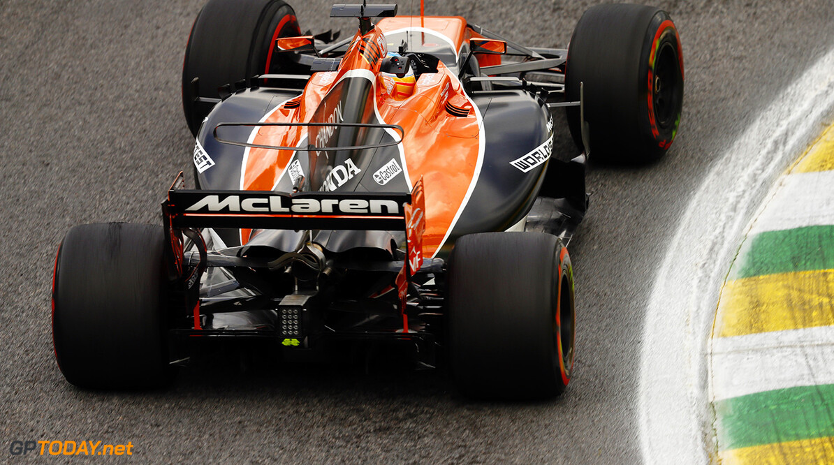Interlagos, Sao Paulo, Brazil. Friday 10 November 2017. Fernando Alonso, McLaren MCL32 Honda. Photo: Glenn Dunbar/McLaren ref: Digital Image _31I9949  Glenn Dunbar    f1 formula 1 formula one gp grand prix Action
