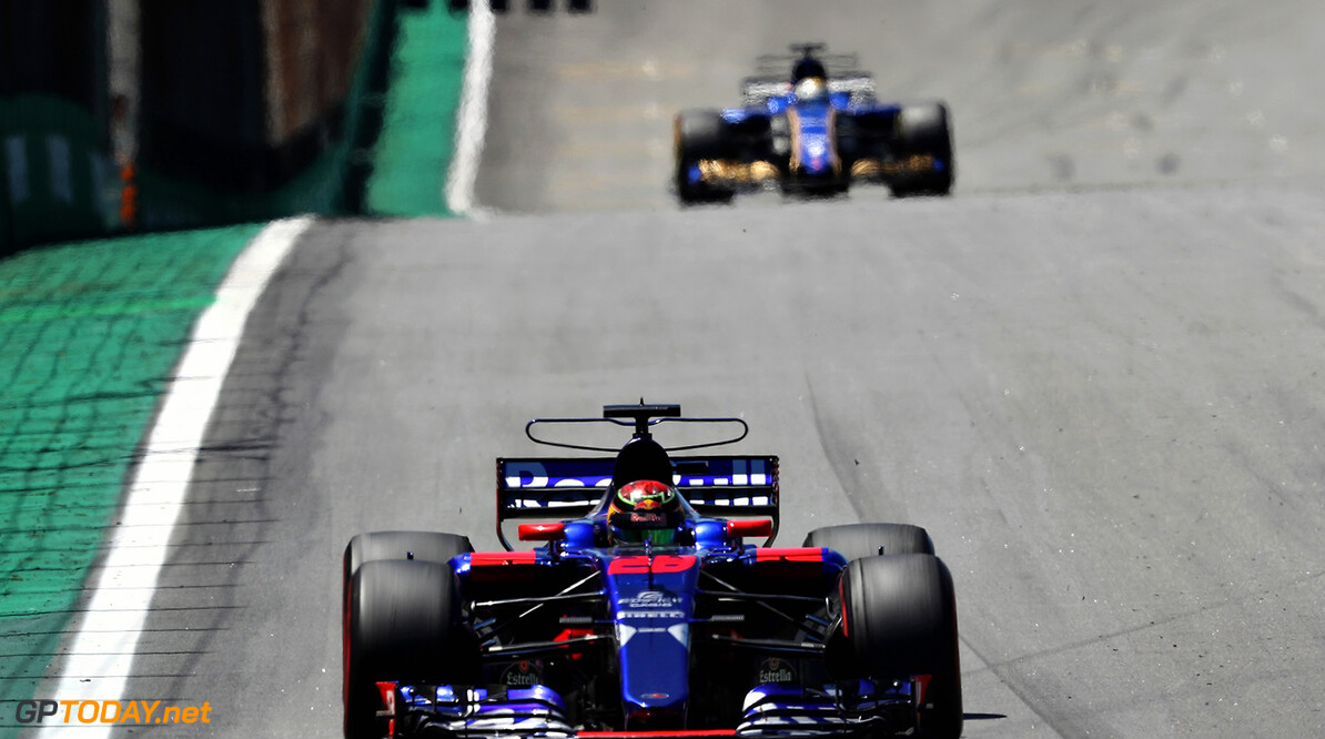 SAO PAULO, BRAZIL - NOVEMBER 12:  Brendon Hartley of New Zealand driving the (28) Scuderia Toro Rosso STR12 on track during the Formula One Grand Prix of Brazil at Autodromo Jose Carlos Pace on November 12, 2017 in Sao Paulo, Brazil.  (Photo by Mark Thompson/Getty Images) // Getty Images / Red Bull Content Pool  // P-20171112-01128 // Usage for editorial use only // Please go to www.redbullcontentpool.com for further information. //  F1 Grand Prix of Brazil Mark Thompson Sao Paulo Brazil  P-20171112-01128
