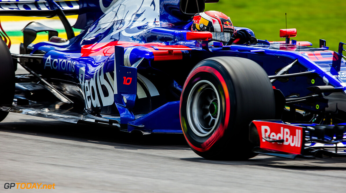 SAO PAULO, BRAZIL - NOVEMBER 10:  Pierre Gasly of Scuderia Toro Rosso and France during practice for the Formula One Grand Prix of Brazil at Autodromo Jose Carlos Pace on November 10, 2017 in Sao Paulo, Brazil.  (Photo by Peter Fox/Getty Images) // Getty Images / Red Bull Content Pool  // P-20171111-01431 // Usage for editorial use only // Please go to www.redbullcontentpool.com for further information. //  F1 Grand Prix of Brazil - Practice Peter Fox Sao Paulo Brazil  P-20171111-01431