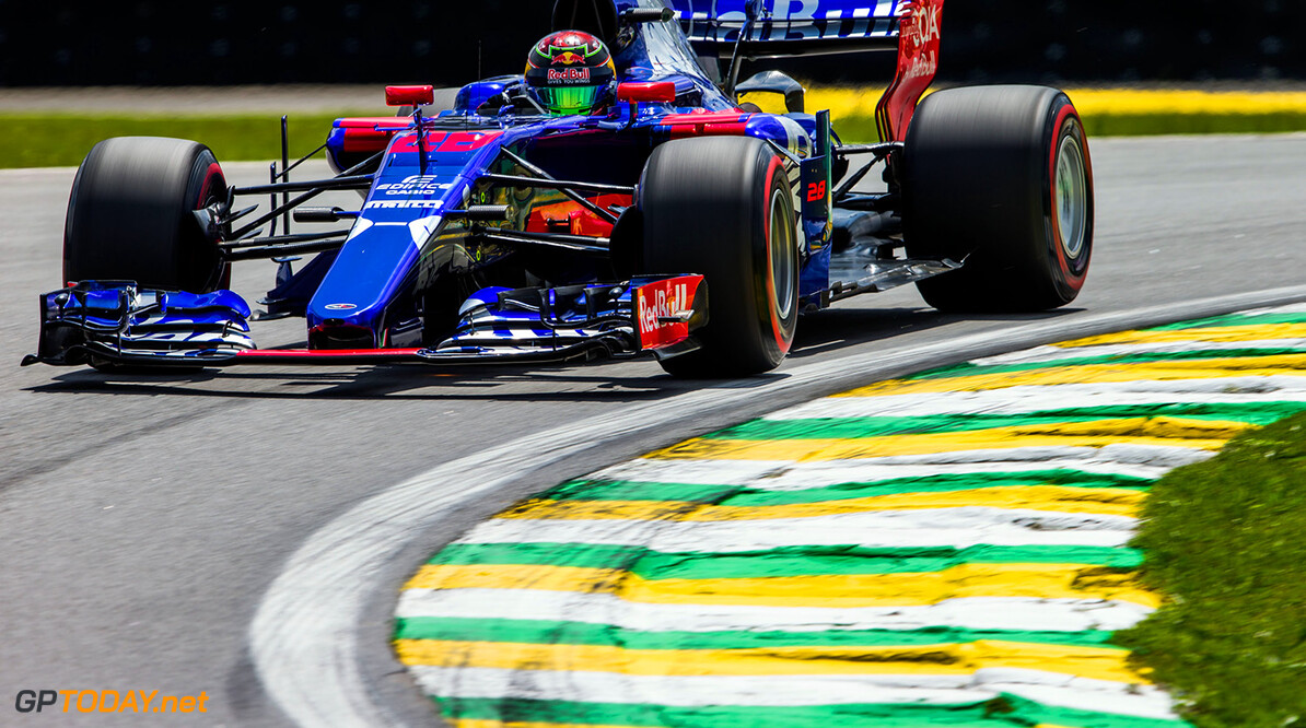 SAO PAULO, BRAZIL - NOVEMBER 10:  Brendon Hartley of Scuderia Toro Rosso and New Zealand during practice for the Formula One Grand Prix of Brazil at Autodromo Jose Carlos Pace on November 10, 2017 in Sao Paulo, Brazil.  (Photo by Peter Fox/Getty Images) // Getty Images / Red Bull Content Pool  // P-20171111-01437 // Usage for editorial use only // Please go to www.redbullcontentpool.com for further information. //  F1 Grand Prix of Brazil - Practice Peter Fox Sao Paulo Brazil  P-20171111-01437