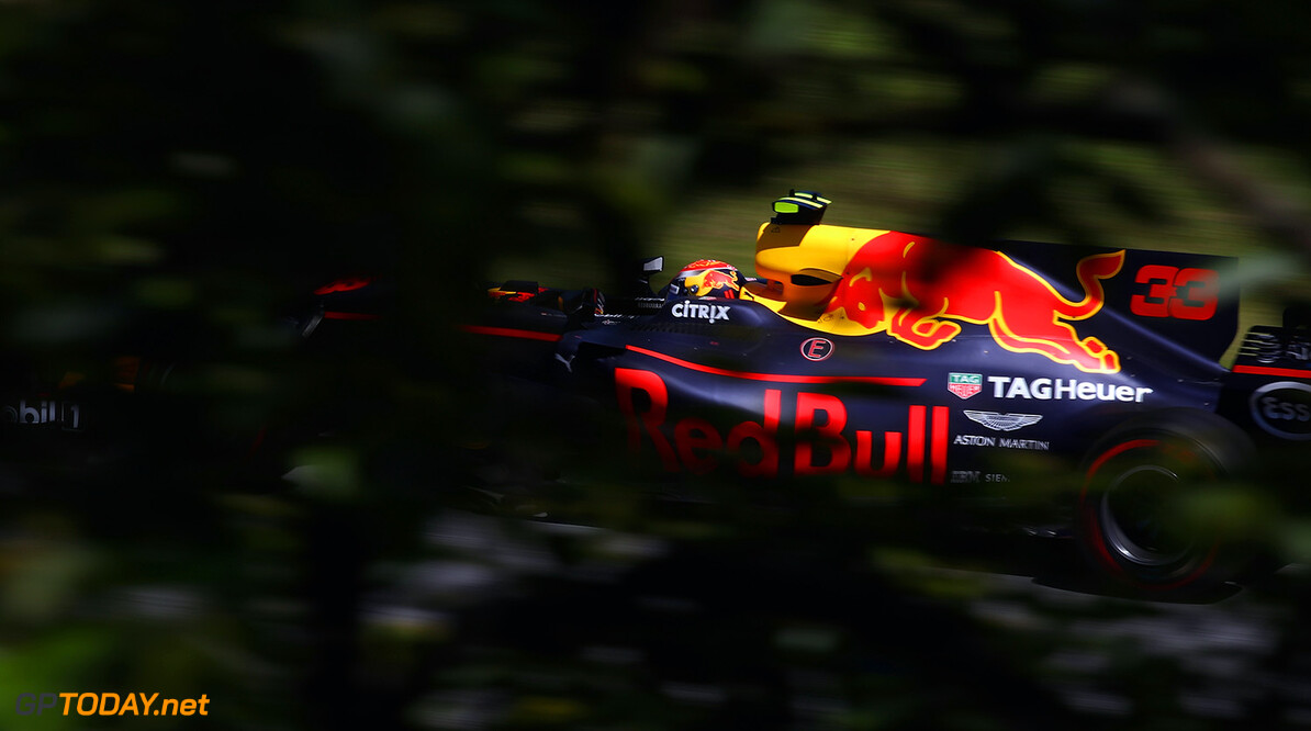 SAO PAULO, BRAZIL - NOVEMBER 12: Max Verstappen of the Netherlands driving the (33) Red Bull Racing Red Bull-TAG Heuer RB13 TAG Heuer on track  during the Formula One Grand Prix of Brazil at Autodromo Jose Carlos Pace on November 12, 2017 in Sao Paulo, Brazil.  (Photo by Clive Mason/Getty Images) // Getty Images / Red Bull Content Pool  // P-20171112-00863 // Usage for editorial use only // Please go to www.redbullcontentpool.com for further information. //  F1 Grand Prix of Brazil Clive Mason Sao Paulo Brazil  P-20171112-00863