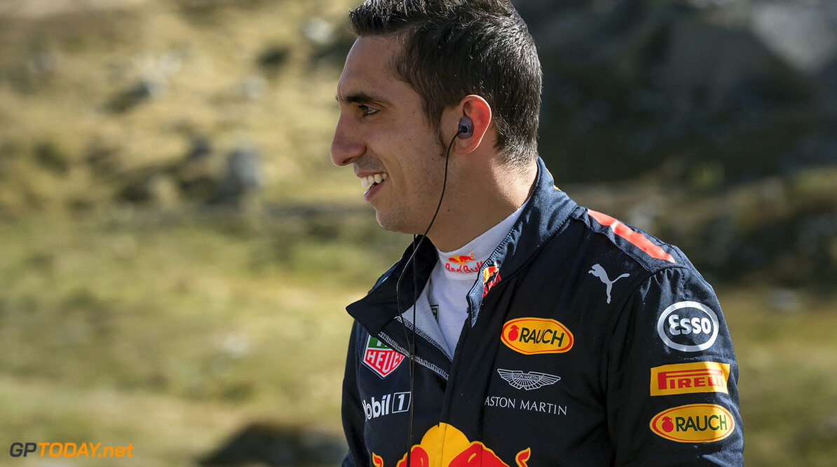 Sebastien Buemi seen during The Pass at the Tremola in Airolo, Switzerland on September 20, 2017. // Jarno Schurgers/Red Bull Content Pool // P-20171004-00606 // Usage for editorial use only // Please go to www.redbullcontentpool.com for further information. //  S?bastien Buemi  Jarno Schurgers Airolo Switzerland  P-20171004-00606
