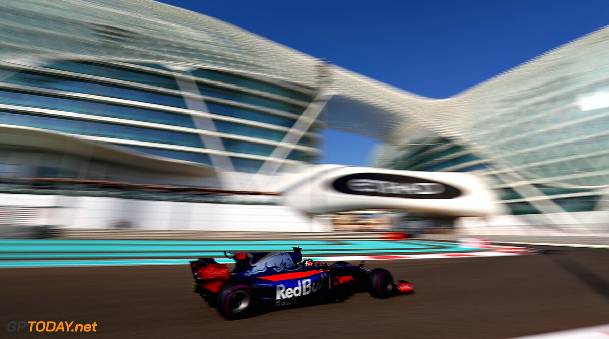 ABU DHABI, UNITED ARAB EMIRATES - NOVEMBER 24: Brendon Hartley of New Zealand driving the (28) Scuderia Toro Rosso STR12 on track during practice for the Abu Dhabi Formula One Grand Prix at Yas Marina Circuit on November 24, 2017 in Abu Dhabi, United Arab Emirates.  (Photo by Dan Istitene/Getty Images) // Getty Images / Red Bull Content Pool  // P-20171124-00425 // Usage for editorial use only // Please go to www.redbullcontentpool.com for further information. //  F1 Grand Prix of Abu Dhabi - Practice Dan Istitene Abu Dhabi United Arab Emirates  P-20171124-00425