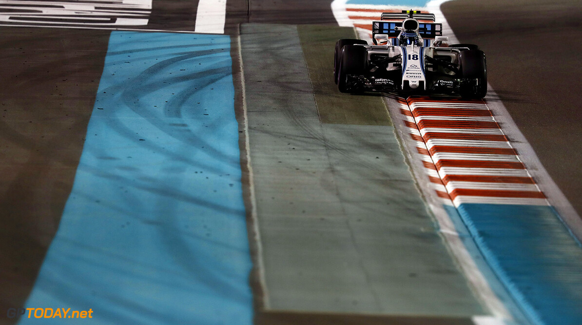 Yas Marina Circuit, Abu Dhabi, United Arab Emirates. Friday 24 November 2017. Lance Stroll, Williams FW40 Mercedes. Photo: Glenn Dunbar/Williams ref: Digital Image _X4I6693  Glenn Dunbar    f1 formula 1 formula one gp action