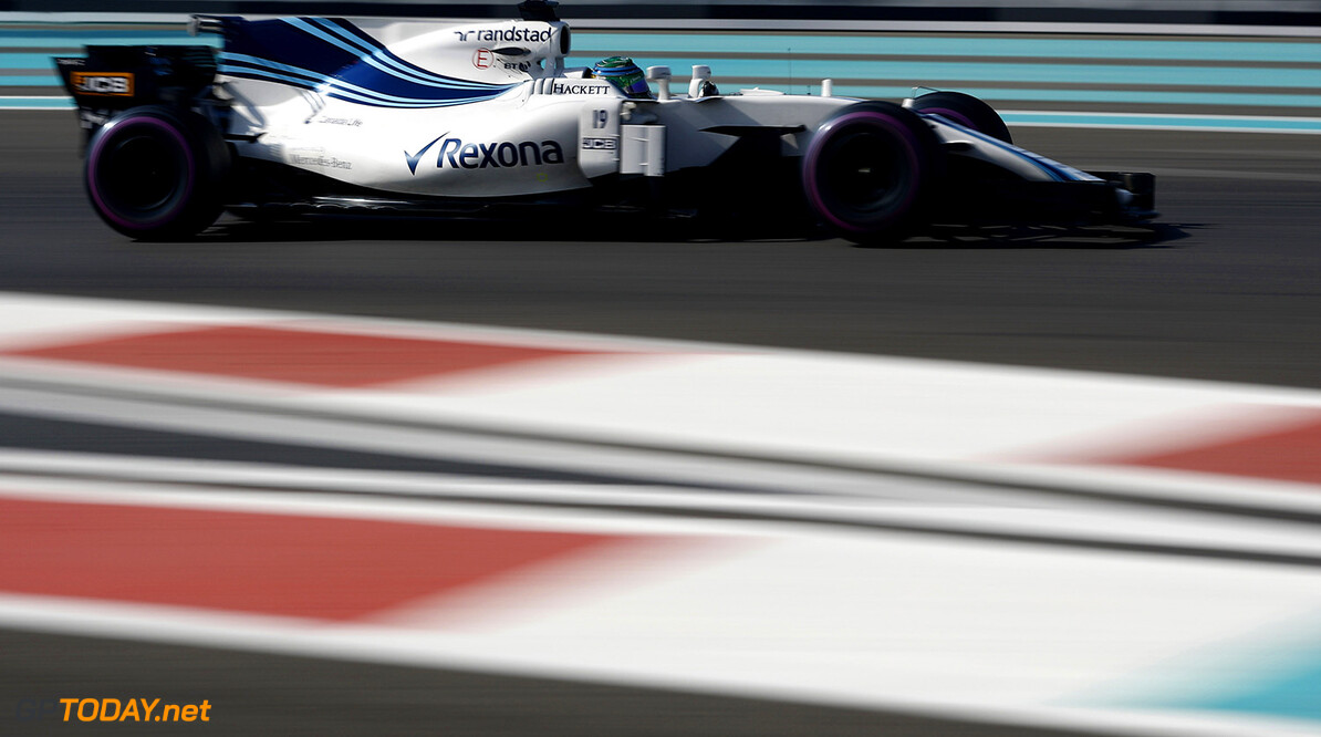 Yas Marina Circuit, Abu Dhabi, United Arab Emirates. Friday 24 November 2017. Felipe Massa, Williams FW40 Mercedes. Photo: Glenn Dunbar/Williams ref: Digital Image _X4I6135  Glenn Dunbar    f1 formula 1 formula one gp action