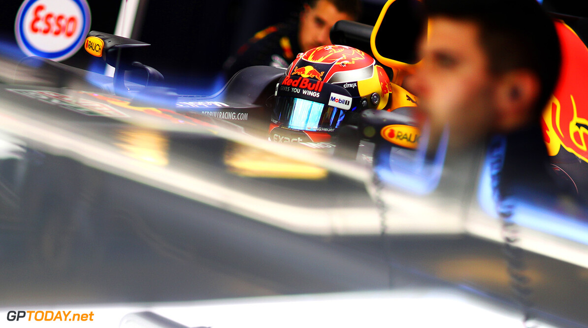ABU DHABI, UNITED ARAB EMIRATES - NOVEMBER 24:  Max Verstappen of Netherlands and Red Bull Racing prepares to drive in the garage during practice for the Abu Dhabi Formula One Grand Prix at Yas Marina Circuit on November 24, 2017 in Abu Dhabi, United Arab Emirates.  (Photo by Dan Istitene/Getty Images) // Getty Images / Red Bull Content Pool  // P-20171124-00715 // Usage for editorial use only // Please go to www.redbullcontentpool.com for further information. //  F1 Grand Prix of Abu Dhabi - Practice Dan Istitene Abu Dhabi United Arab Emirates  P-20171124-00715