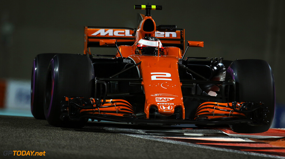 Yas Marina Circuit, Abu Dhabi, United Arab Emirates. Friday 24 November 2017. Stoffel Vandoorne, McLaren MCL32 Honda.  Photo: Charles Coates/McLaren ref: Digital Image AN7T5592      f1 formula 1 formula one gp grand prix Action