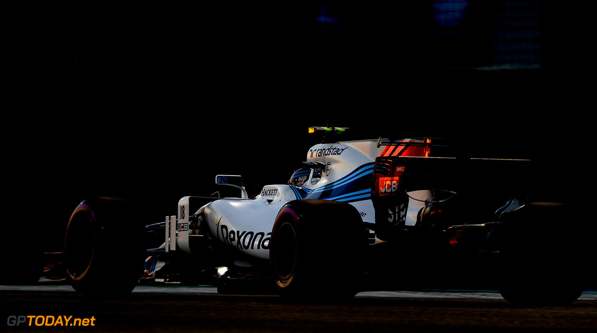 Yas Marina Circuit, Abu Dhabi, United Arab Emirates. Friday 24 November 2017. Lance Stroll, Williams FW40 Mercedes. Photo: Steven Tee/Williams ref: Digital Image _O3I1948  Steven Tee    f1 formula 1 formula one gp action
