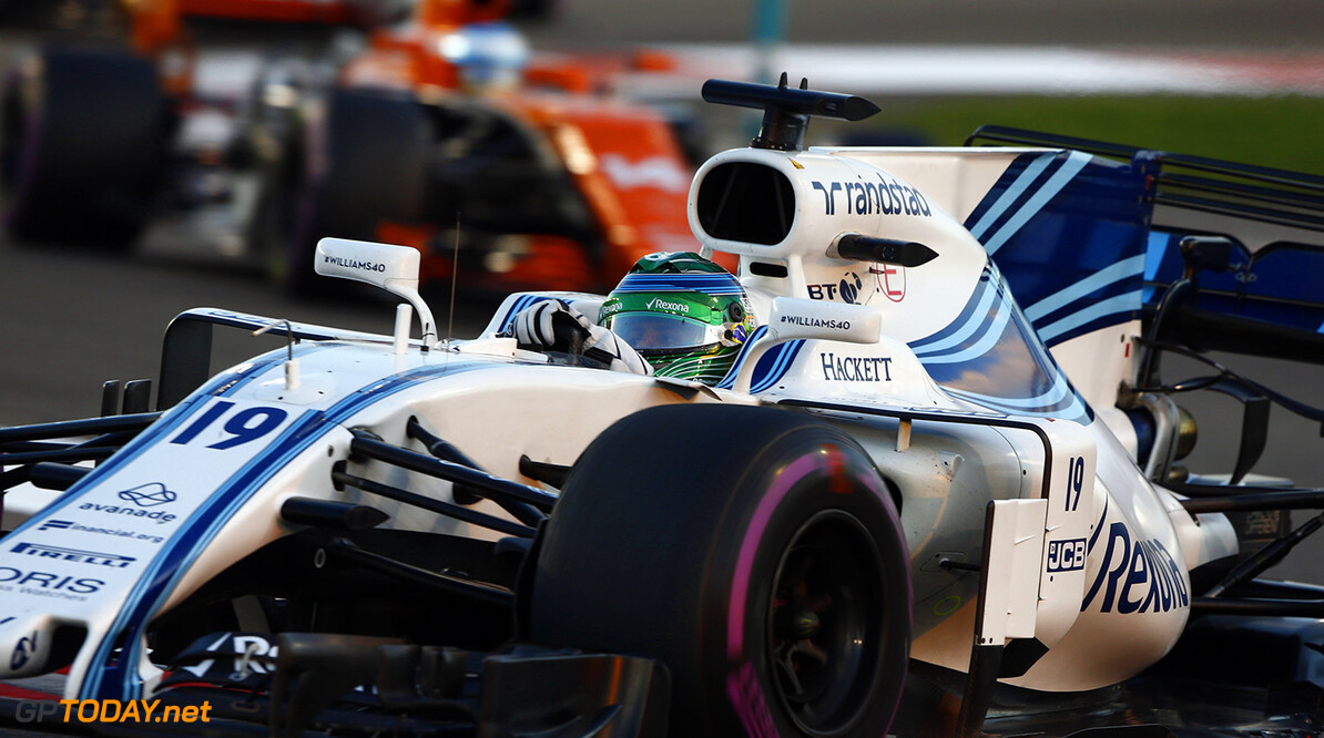 Yas Marina Circuit, Abu Dhabi, United Arab Emirates. Sunday 26 November 2017. Felipe Massa, Williams FW40 Mercedes. World Copyright: Hone/Williams  ref: Digital Image _W6I4308      f1 formula 1 formula one gp Action