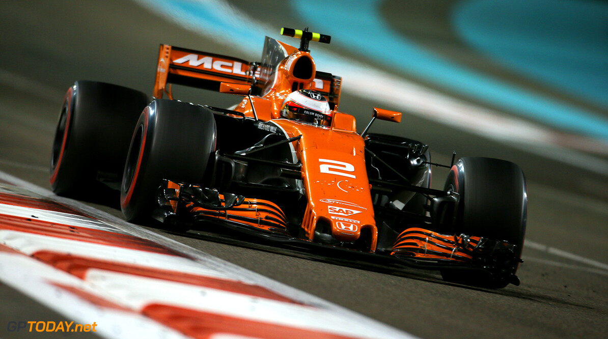 Yas Marina Circuit, Abu Dhabi, United Arab Emirates. Sunday 26 November 2017. Stoffel Vandoorne, McLaren MCL32 Honda. Photo: Charles Coates/McLaren ref: Digital Image DJ5R3447      f1 formula 1 formula one gp grand prix Action
