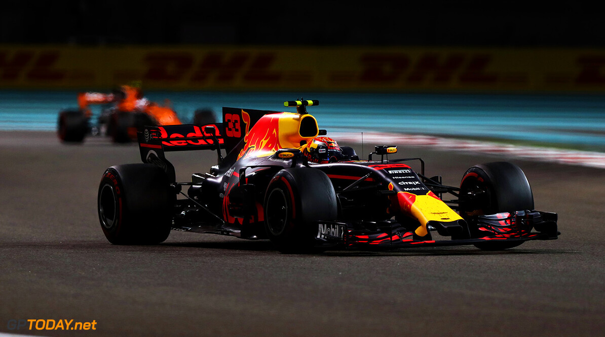 ABU DHABI, UNITED ARAB EMIRATES - NOVEMBER 26:  Max Verstappen of the Netherlands driving the (33) Red Bull Racing Red Bull-TAG Heuer RB13 TAG Heuer on track during the Abu Dhabi Formula One Grand Prix at Yas Marina Circuit on November 26, 2017 in Abu Dhabi, United Arab Emirates.  (Photo by Dan Istitene/Getty Images) // Getty Images / Red Bull Content Pool  // P-20171126-00713 // Usage for editorial use only // Please go to www.redbullcontentpool.com for further information. //  F1 Grand Prix of Abu Dhabi Dan Istitene Abu Dhabi United Arab Emirates  P-20171126-00713