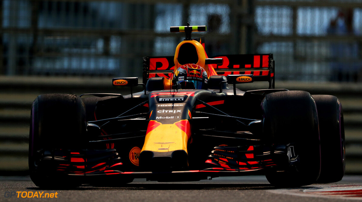 ABU DHABI, UNITED ARAB EMIRATES - NOVEMBER 26: Max Verstappen of the Netherlands driving the (33) Red Bull Racing Red Bull-TAG Heuer RB13 TAG Heuer on track during the Abu Dhabi Formula One Grand Prix at Yas Marina Circuit on November 26, 2017 in Abu Dhabi, United Arab Emirates.  (Photo by Dan Istitene/Getty Images) // Getty Images / Red Bull Content Pool  // P-20171126-00314 // Usage for editorial use only // Please go to www.redbullcontentpool.com for further information. //  F1 Grand Prix of Abu Dhabi Dan Istitene Abu Dhabi United Arab Emirates  P-20171126-00314