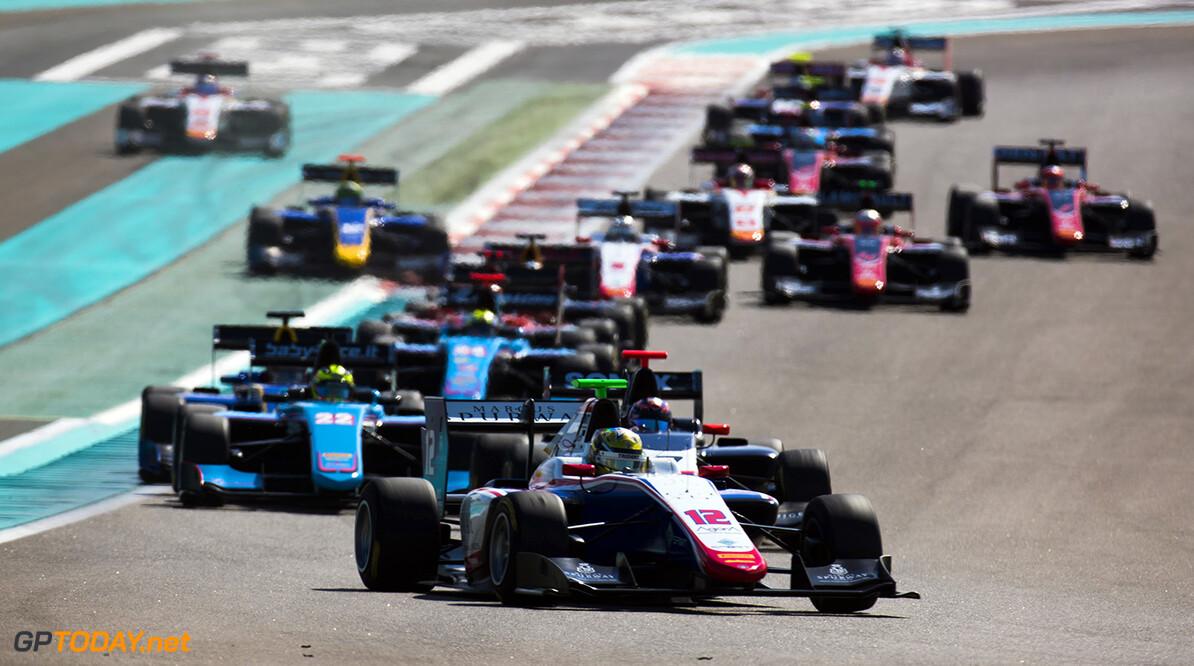 2017 GP3 Series Round 8.  Yas Marina Circuit, Abu Dhabi, United Arab Emirates. Sunday 26 November 2017. Dorian Boccolacci (FRA, Trident).  Photo: Sam Bloxham/GP3 Series Media Service. ref: Digital Image _W6I3630   Sam Bloxham    Race Two action