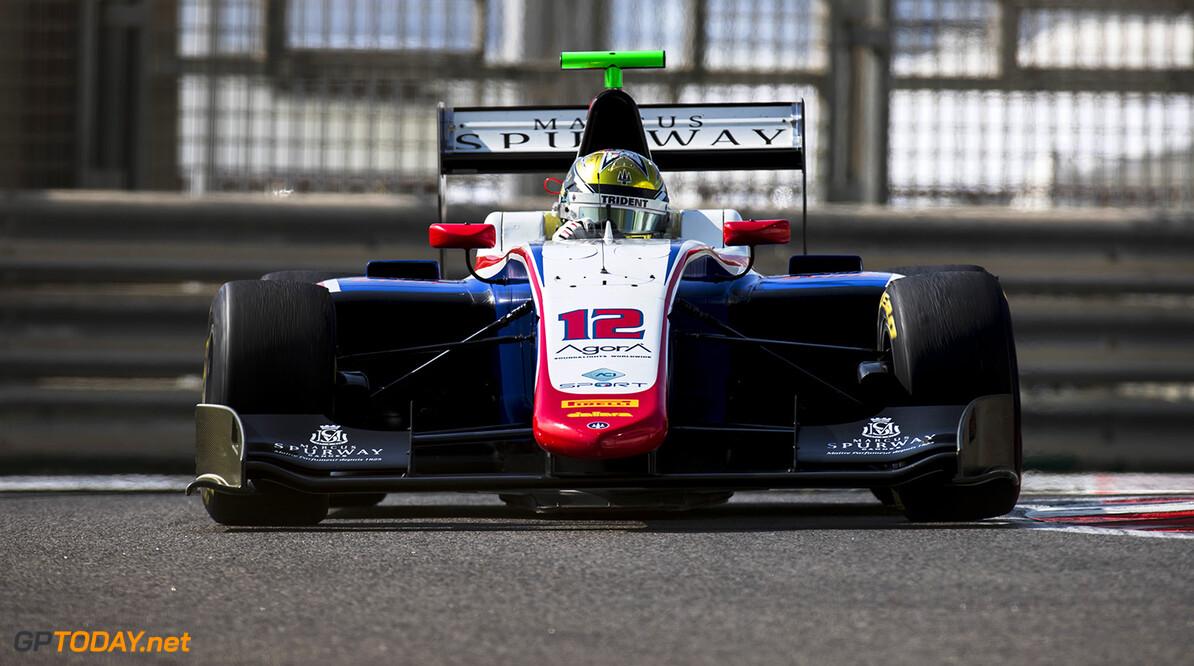 2017 GP3 Series Round 8.  Yas Marina Circuit, Abu Dhabi, United Arab Emirates. Friday 24 November 2017. Dorian Boccolacci (FRA, Trident).  Photo: Zak Mauger/GP3 Series Media Service. ref: Digital Image _56I9613  Zak Mauger    Practice action