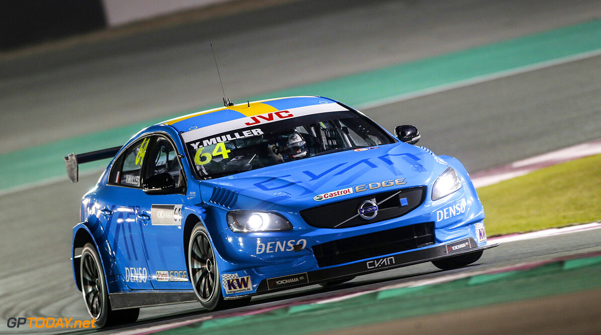 64 MULLER Yvan (fra), Volvo S60 Polestar team Polestar Cyan Racing, action during the 2017 FIA WTCC World Touring Car Championship race at Losail  from November 29 to december 01, Qatar - Photo Francois Flamand / DPPI AUTO - WTCC LOSAIL 2017 Francois Flamand Losail Qatar  Auto Championnat Du Monde Losail International Circuit Circuit Course Fia Motorsport November Novembre Quatar Tourisme Wtcc