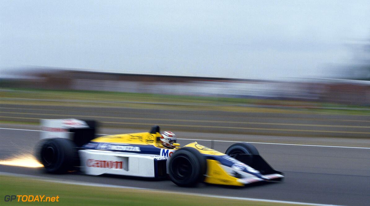 1987 British Grand Prix Silverstone, England. 10-12 July 1987. Nelson Piquet (Williams FW11B Honda) 2nd position, action. World Copyright - LAT Photographic. Ref: 87 GB 06