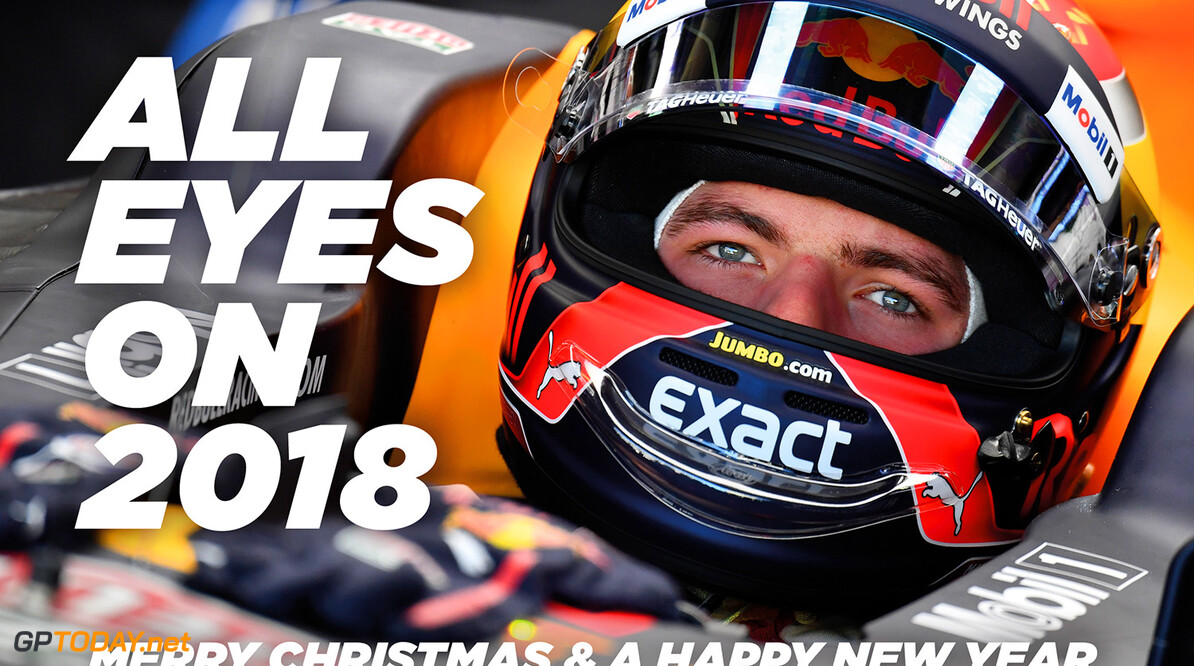"""Een kerstkaart van Max Verstappen: """"Ik kijk uit naar 2018"""""""