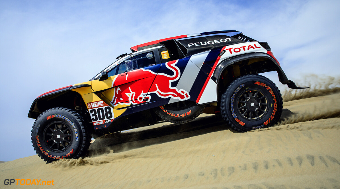 Cyril Despres (FRA) of Team Peugeot TOTAL races during stage 1 of Rally Dakar 2018 from Lima to Pisco, Peru on January 6, 2018. // Flavien Duhamel/Red Bull Content Pool // P-20180107-00019 // Usage for editorial use only // Please go to www.redbullcontentpool.com for further information. //  Cyril Despres Flavien Duhamel