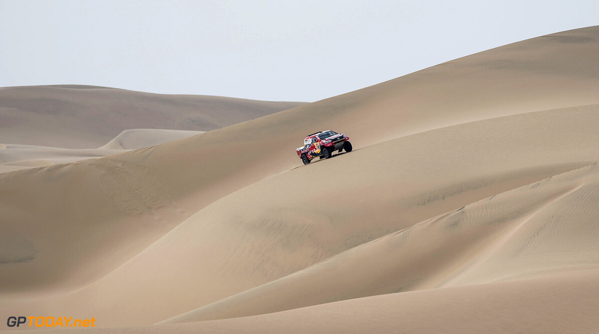 Nasser Al-Attiyah (QAT) of Toyota Gazoo Racing SA races during stage 02 of Rally Dakar 2018 from Pisco to Pisco on January 7, 2018 // Marcelo Maragni/Red Bull Content Pool // P-20180107-00367 // Usage for editorial use only // Please go to www.redbullcontentpool.com for further information. //  Nasser Al-Attiyah     P-20180107-00367