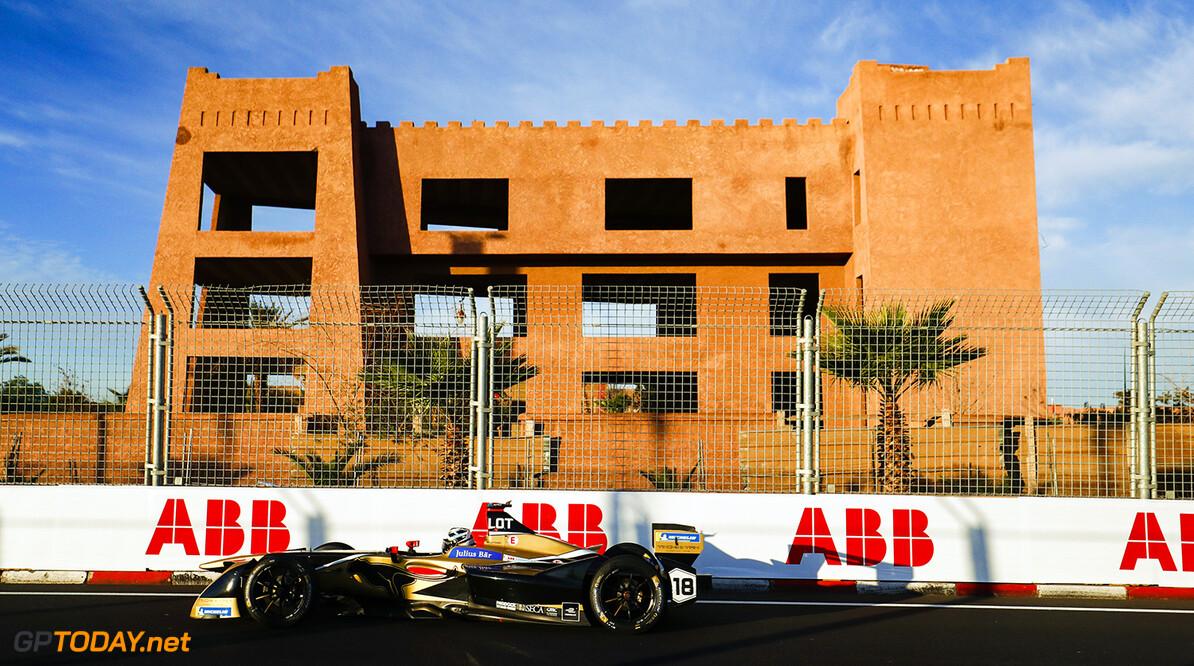 2017/2018 FIA Formula E Championship. Round 3 - Marrakesh ePrix. Circuit International Automobile Moulay El Hassan, Marrakesh, Morocco. Saturday 13 January 2018. Andre Lotterer (BEL), TECHEETAH, Renault Z.E. 17. Photo: Sam Bloxham/LAT/Formula E ref: Digital Image _W6I0335       Action fe formula e