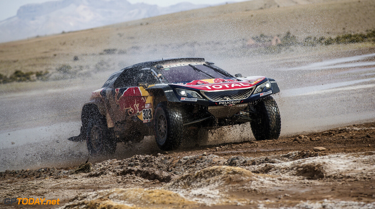 Carlos Sainz (ESP) of Team Peugeot TOTAL races during stage 8 of Rally Dakar 2018 from Uyuni to Tupiza, Bolivia on January 14, 2018. // Flavien Duhamel/Red Bull Content Pool // P-20180114-00356 // Usage for editorial use only // Please go to www.redbullcontentpool.com for further information. //  Carlos Sainz Flavien Duhamel