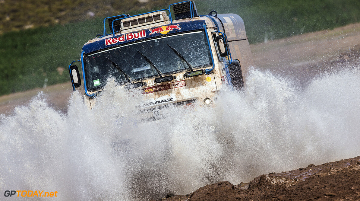 Eduard Nikolaev (RUS) of KAMAZ - Master races during stage 8 of Rally Dakar 2018 from Uyuni to Tupiza, Bolivia on January 14, 2018. // Flavien Duhamel/Red Bull Content Pool // P-20180114-00347 // Usage for editorial use only // Please go to www.redbullcontentpool.com for further information. //  Eduard Nikolaev Flavien Duhamel