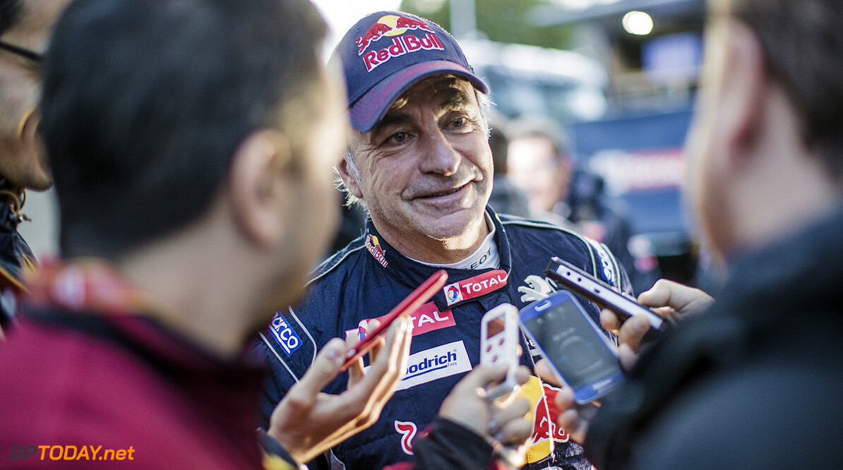 Carlos Sainz (ESP) of Team Peugeot TOTAL at the bivouac after stage 6 of Rally Dakar 2018 from Arequipa, Peru to La Paz, Bolivia on January 11, 2018. // Flavien Duhamel/Red Bull Content Pool // P-20180112-00024 // Usage for editorial use only // Please go to www.redbullcontentpool.com for further information. //  Carlos Sainz Flavien Duhamel