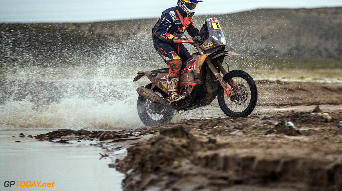 Toby Price (AUS) of Red Bull KTM Factory Team races during stage 8 of Rally Dakar 2018 from Uyuni to Tupiza, Bolivia on January 14, 2018. // Flavien Duhamel/Red Bull Content Pool // P-20180114-00228 // Usage for editorial use only // Please go to www.redbullcontentpool.com for further information. //  Toby Price Flavien Duhamel