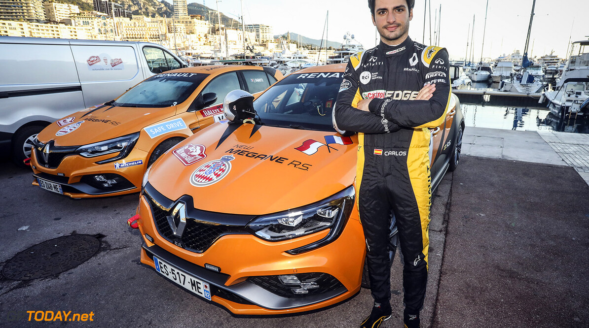 SAINZ Carlos jr (esp), portrait, driving Renault Megane RS at the Monte-Carlo rally, during the 2018 WRC World Rally Car Championship, Monte Carlo rally from January 25 to 28, at Monaco - Photo Gregory Lenormand / DPPI AUTO - WRC MONTE CARLO RALLY 2018 Gregory Lenormand    des monde RALLYING rallyes championship championnat sport rally world january motorsport janvier motor sport monaco rallye auto car wrc