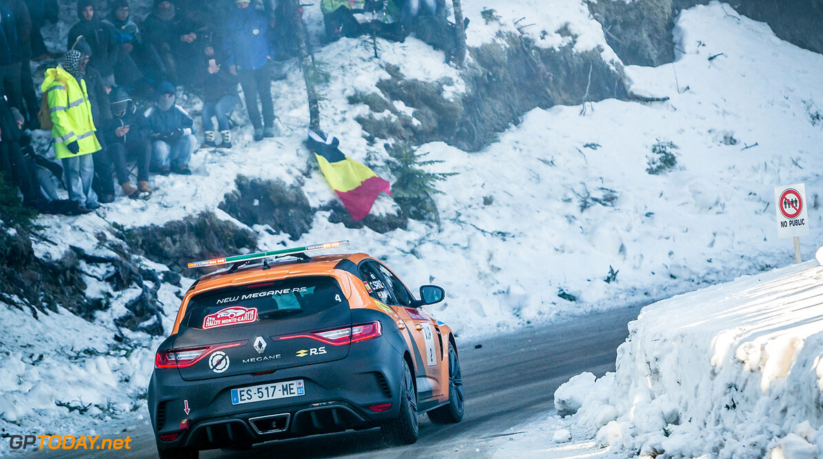 SAINZ Carlos JR, Megane Renault Sport, action during the 2018 WRC World Rally Car Championship, Monte Carlo rally from January 25 to 28, at Monaco - Photo Thomas Fenetre / DPPI AUTO - WRC MONTE CARLO RALLY 2018 Thomas Fenetre    des monde Motorsport Auto Car championship championnat Rallye sport world january janvier Rally monaco Rallyes Rallying Motor Sport wrc