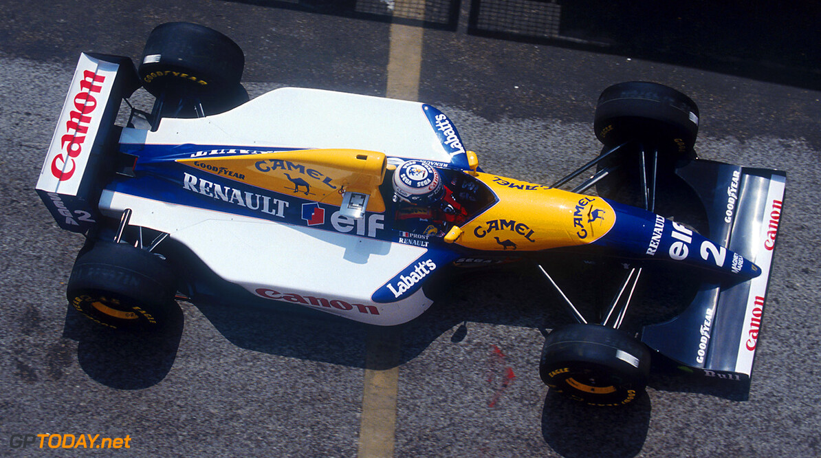 1993 San Marino Grand Prix. Imola, Italy. 23-25 April 1993. Alain Prost (Williams FW15C Renault) 1st position. Ref-93 SM 09. World Copyright - LAT Photographic