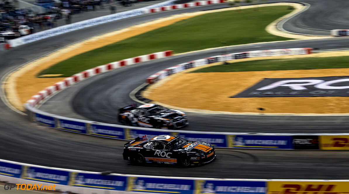 2018 Race of Champions, King Farhad Stadium, Riyadh, Saudi Arabi Petter Solberg (NOR) of Team Nordic driving the Whelen NASCAR during the ROC Nations Cup on Friday 2 February 2018 at King Fahad Stadium, Riyadh, Saudi Arabia.  Akl Yazbeck