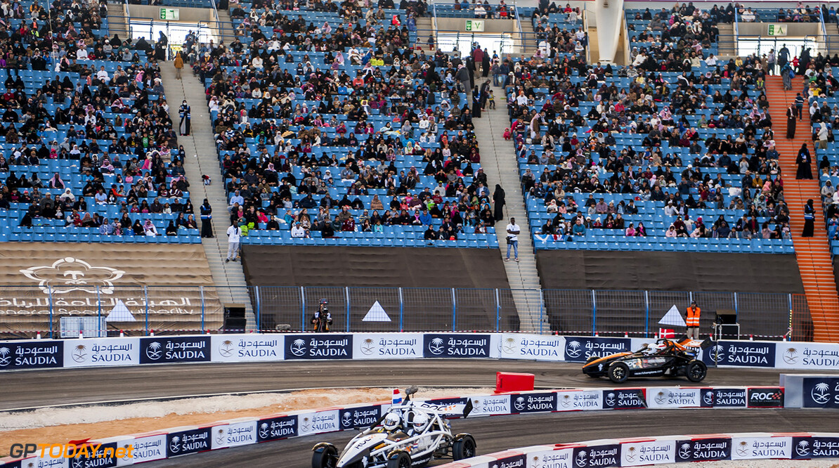 2018 Race of Champions, KIng Farhad Stadium, Riyadh, Saudi Arabi Rudy Van Buren (NED) and Tom Kristensen (DNK) driving the Ariel Atom Cup during the Race of Champions on Saturday 3 February 2018 at King Fahad Stadium, Riyadh, Saudi Arabia.