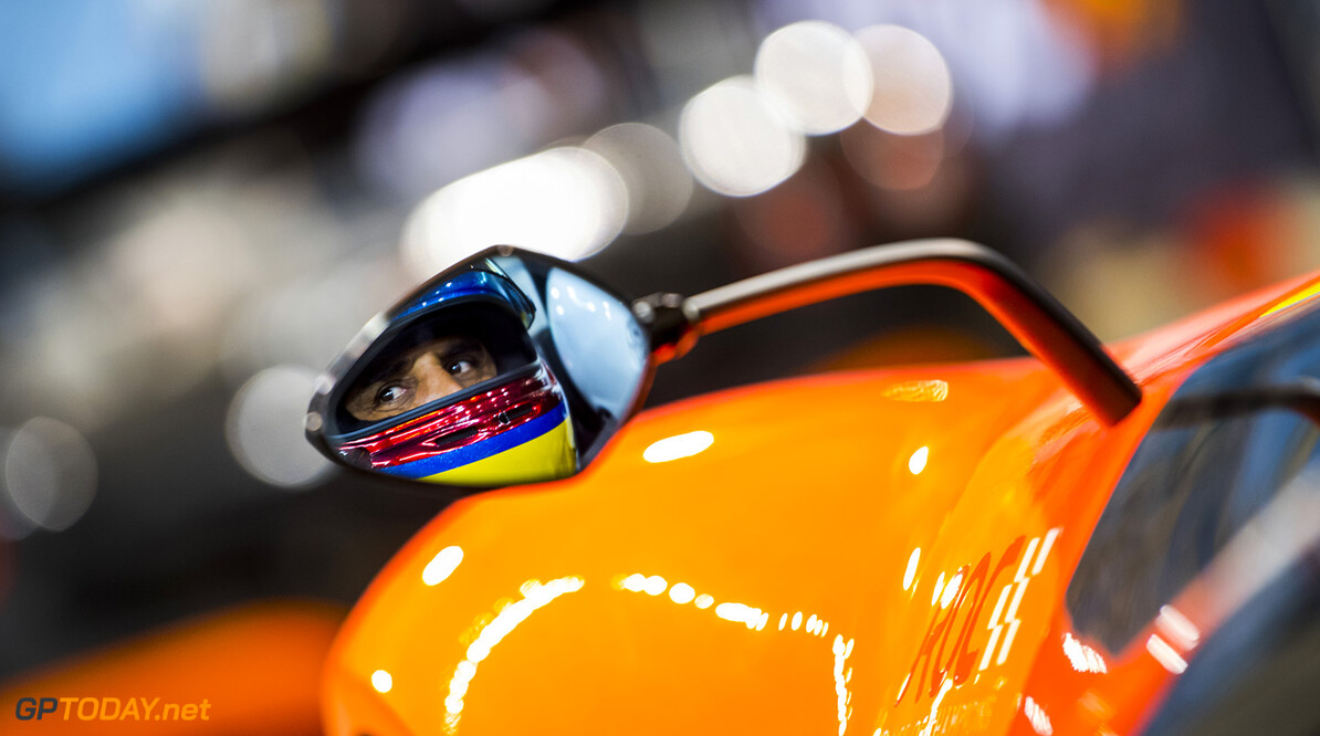 2018 Race of Champions, King Fahd Stadium, Riyadh, Saudi Arabia Juan-Pablo Montoya (COL) prepares to drive during practice for the Race of Champions on Thursday 1 February 2018 at King Fahad Stadium, Riyadh, Saudi Arabia  Akl Yazbeck