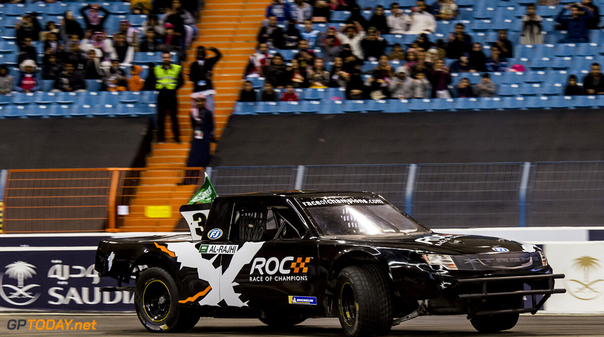 2018 Race of Champions, King Farhad Stadium, Riyadh, Saudi Arabi Yazeed Al-Rajhi (SAU) of Team Saudi Arabia driving the Xtreme Pickup during the ROC Nations Cup on Friday 2 February 2018 at King Fahad Stadium, Riyadh, Saudi Arabia.